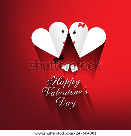 Happy Valentines Day card vector illustration  - stock vector