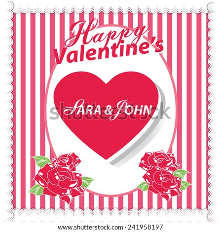 happy valentines day cards with hearts and rose - Valentines Day Greetings Images