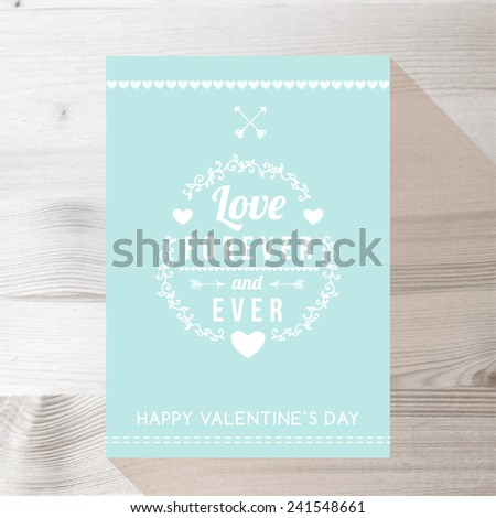 Happy Valentines day cards with ornaments, hearts, frame. typography vector - stock vector