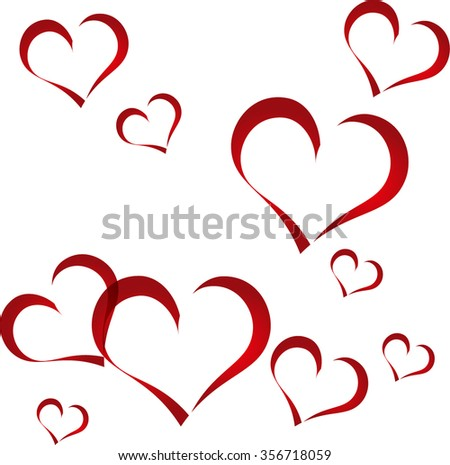 Happy Valentines Day celebration greeting card design with beautiful heart shapes on White background.