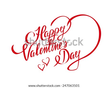 Happy valentines day design element stylish stock vector 247063501 happy valentines day design element with stylish heart shape and text for lettering invitation or greeting stopboris Choice Image