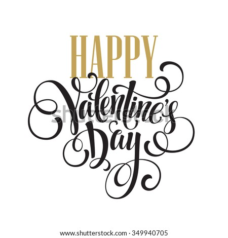Happy Valentines Day Hand Drawing Lettering design. Vector illustration EPS10 - stock vector