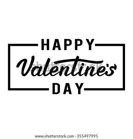 Happy Valentines day. Lettering - stock vector