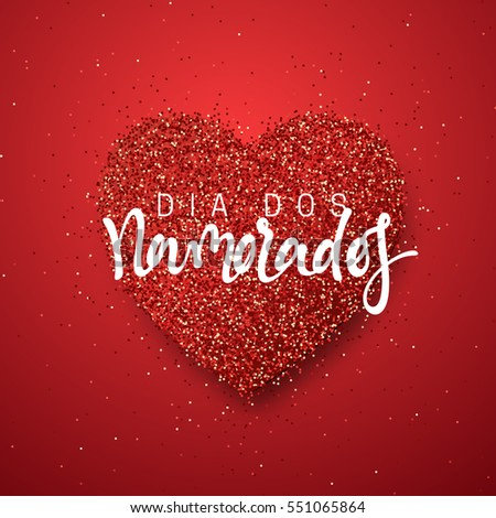 Happy Valentines Day. Lettering French Inscription Handmade. Dia Dos  Namorados. Holiday Greeting Card
