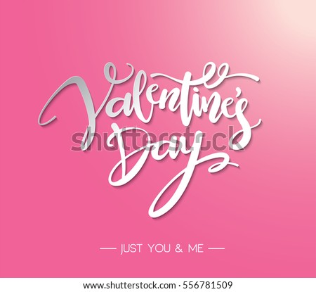 Happy Valentines Day Lettering Vector design.