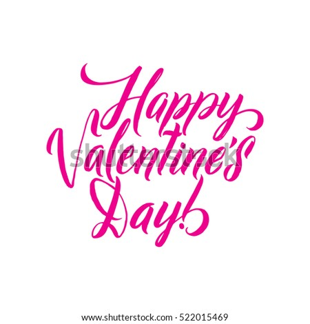 Happy Valentines Day Pink lettering background Greeting Card