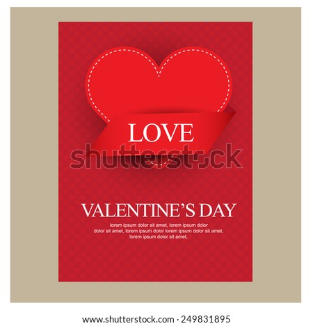 Happy Valentines Day. vector - stock vector