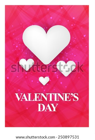 Happy Valentines Day. vector illustration - stock vector