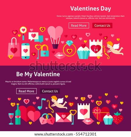 happy valentines day website banners vector stock vector 554712301, Ideas