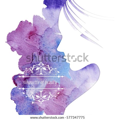 Happy Women's Day Greeting Card with Female Face.Vector