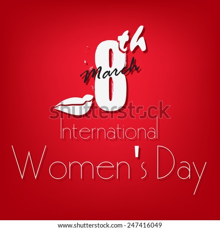 Happy Women's Day 8 march International women's day greeting and  gift card background... - stock vector