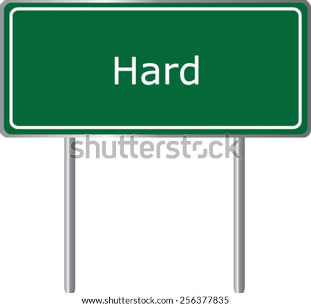 Hard, Austria, road sign green vector illustration, road table - stock vector
