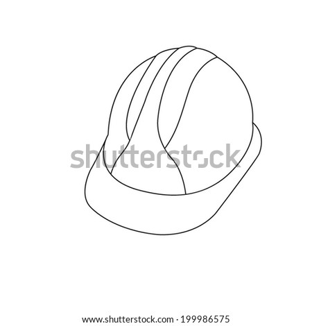 Hard Hat Construction Icon - stock vector