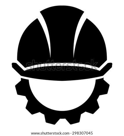 Hard Hat Construction On A White Background
