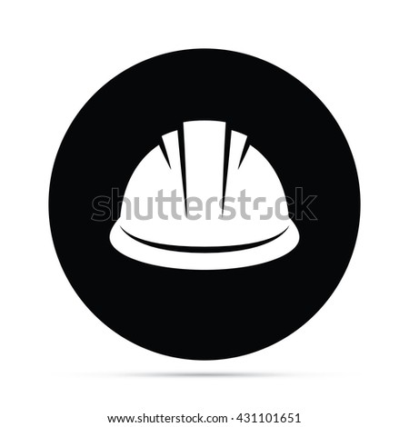 Hard Hat Icon Circle Icon - stock vector