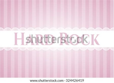Hard Rock card or banner - stock vector