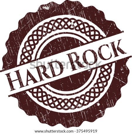 Hard Rock grunge stamp - stock vector