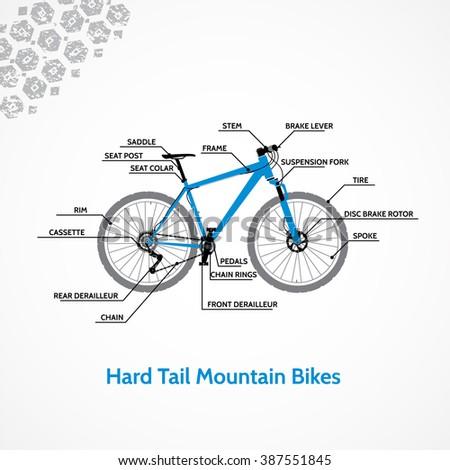 Hard Tail Mountain Bikes. - stock vector