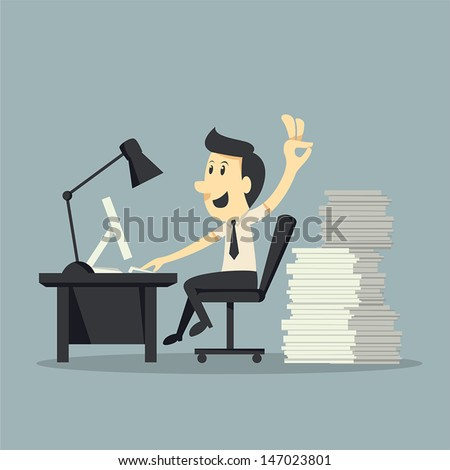 Hard Working  - stock vector