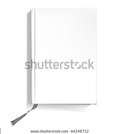 Hardcover book - stock vector