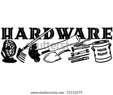 Hardware - Retro Ad Art Banner