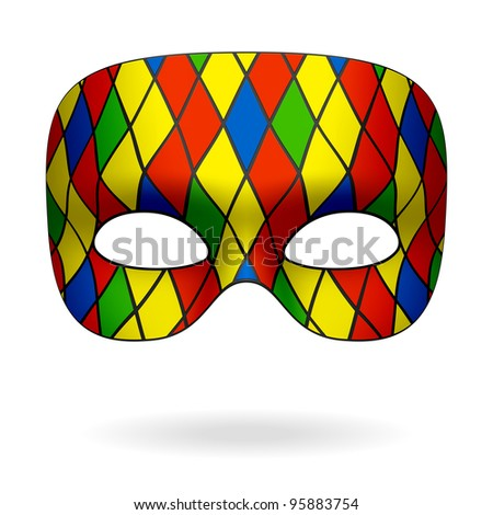 Harlequin mask. Vector. - stock vector