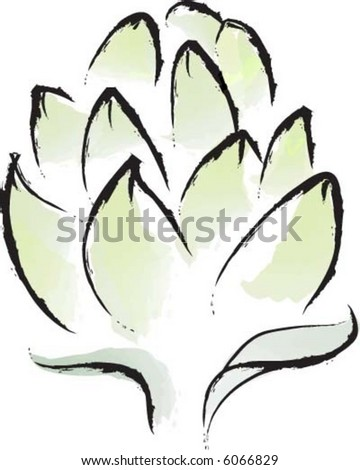Harvest Artichoke - stock vector