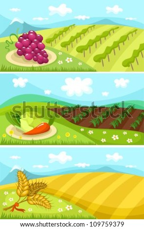harvest card - stock vector