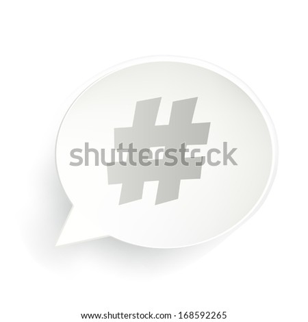 Hash-tag Speech - stock vector