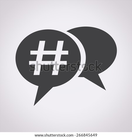 Hashtag social media icon - stock vector