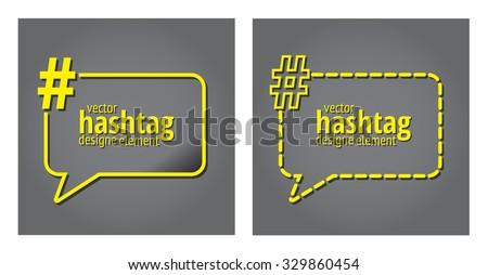 Hashtag template quote text bubble print stock vector for Hashtag architecture