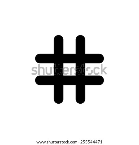 hashtags - black vector icon - stock vector