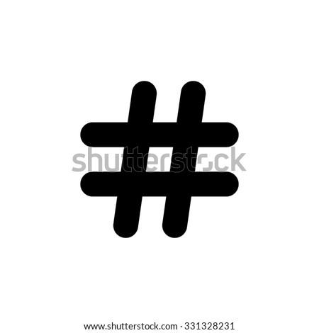 Hashtags - vector icon - stock vector