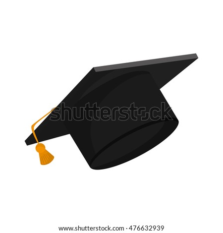 hat graduation cap university cloth icon. Flat and isolated design. Vector illustration