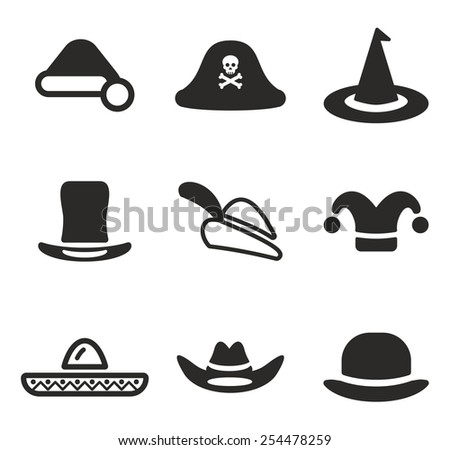 Hat Icons  - stock vector