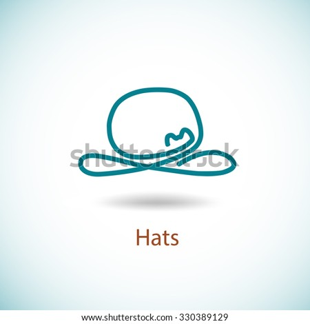 Hat logo. Simple elegant symbol. Production and sale of hats. - stock vector