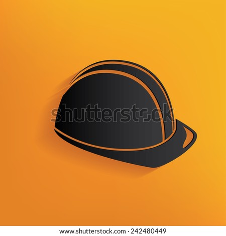 Hat security design on yellow background,clean vector - stock vector
