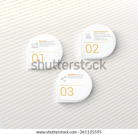 Hatch Raster Textured Menu Options Pin Mock Up Set For Your Flat &  Minimal Text Box - stock vector