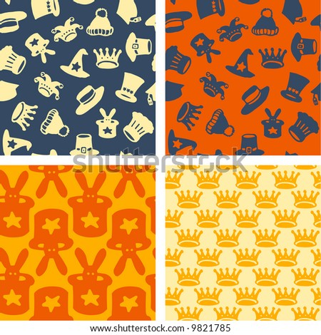 hats - seamless patterns