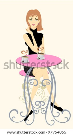 Have a coffee with me! - stock vector