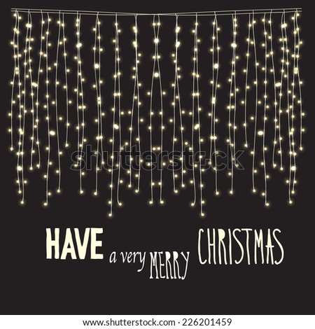 Have a very Marry Christmas card. Abstract background with glowing lights  - stock vector