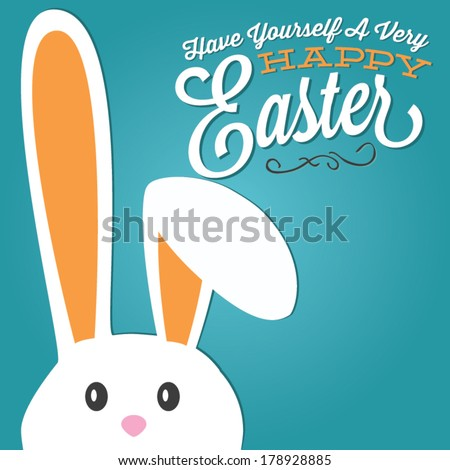Have Yourself a Very Happy Easter | Easter Bunny Ears Vector - stock vector