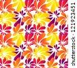 Hawaii style bright seamless pattern - stock vector