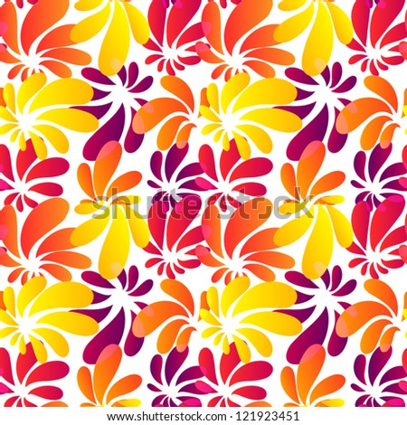 Hawaii style bright seamless pattern - stock vector