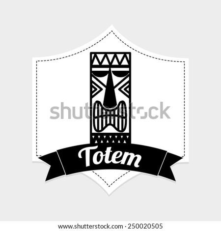 hawaii totem design, vector illustration eps10 graphic  - stock vector