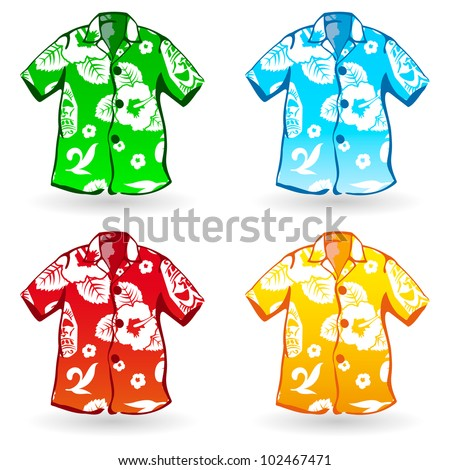 Hawaiian Aloha Shirts Vector Illustration Stock Vector (Royalty Free ...