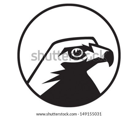 Hawk - stock vector