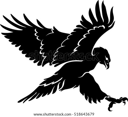 Hawk Stock Images, Royalty-Free Images & Vectors ... Flying Hawk Silhouette Vector