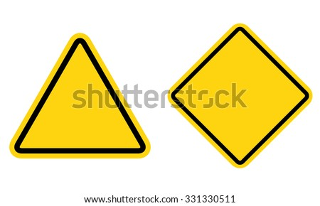 Hazard blank sign set . Warning sign . Vector illustration
