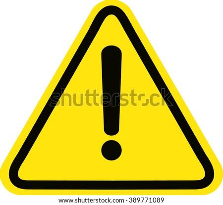 Hazard warning attention sign - stock vector